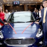 Mr. R S Kalsi, Senior Executive Director (Marketing and Sales- Maruti) and Mr. T. Hashimoto Executive Director, (Marketing and Sales- Suzuki) with the Maruti Suzuki new Dzire